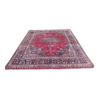 """Vintage Persian Mashad Oriental Rug - 12'2"""" x 9'9"""""""