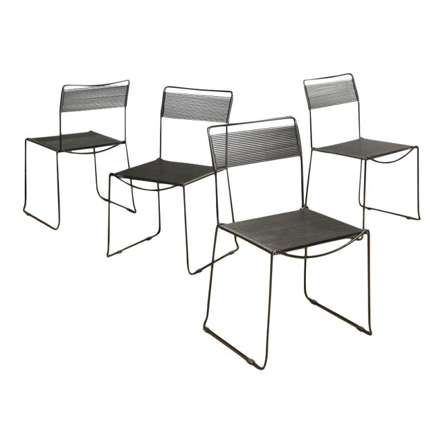 "Giandomenico Belotti for Fly Line ""Spaghetti Chairs"" - Set of 4 - Image 1 of 10"