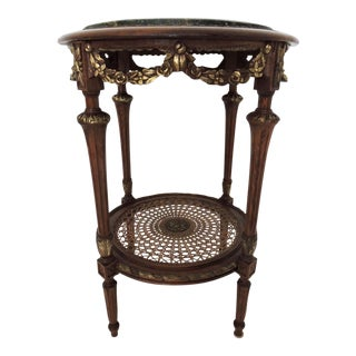 Marble Two Tier Occasional Table