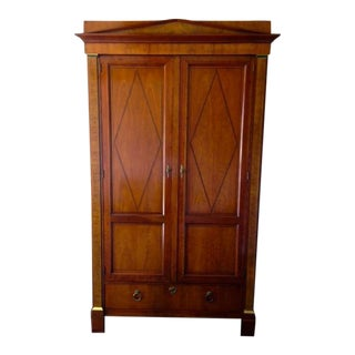 Baker Walnut Burlwood Media Armoire