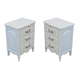 Vintage French Provincial Nightstands - A Pair