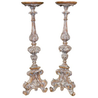 Pair 18th Century Italian Altar Sticks