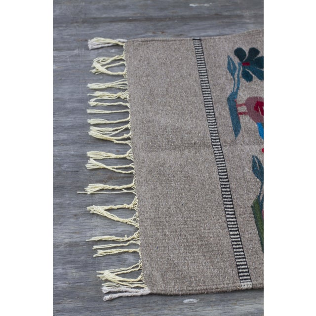 """Mexican Gray Wool Rug - 2'6"""" X 4'11"""" - Image 5 of 7"""