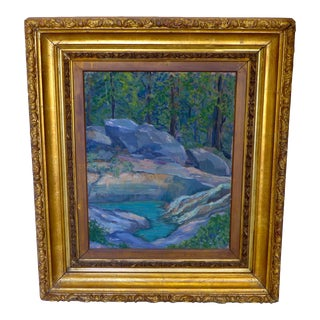 Transitional Serene Rock Creek Painting