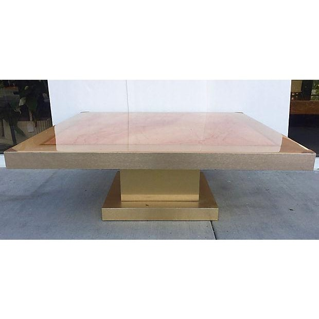 Faux Marble Square Coffee Table - Image 3 of 7