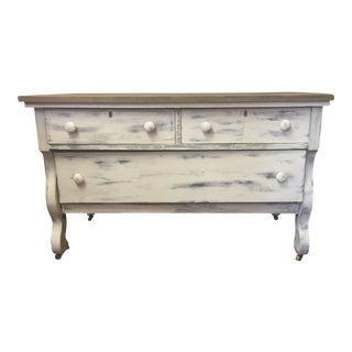 Rusty Top White Dresser or Sideboard/Buffet