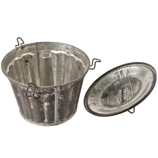 Vintage French Metal Pudding Tin - Image 2 of 3