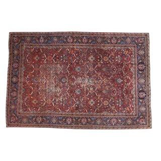 """Vintage Persian Yezd Carpet - 9'4"""" X 13'8"""""""