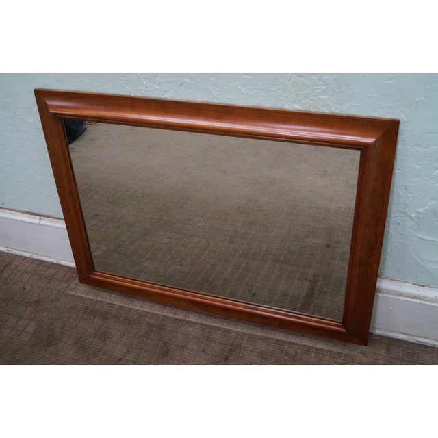 Stickley Solid Cherry Frame Rectangular Mirror - Image 2 of 10
