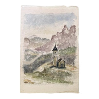 Early 19th Century British Watercolor Painting