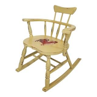 Vintage Comb Back Windsor Child Rocking Chair