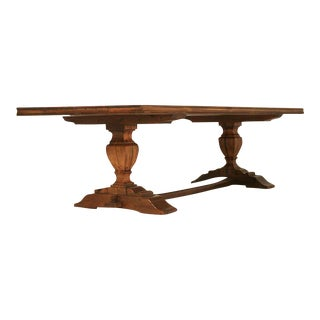 French Style Trestle Dining Table Made in Chicago by Old Plank
