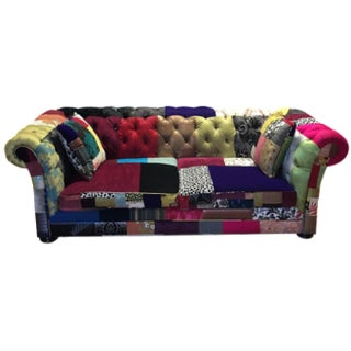 Multicolor Patchwork Chesterfield Sofa