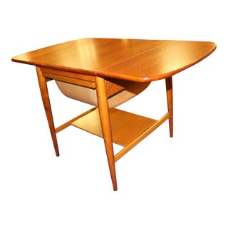 Vintage Danish Mid-Century Rosewood Side Drop-Leaf Table