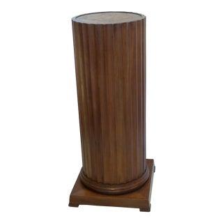 Reeded Walnut Pedestal Column