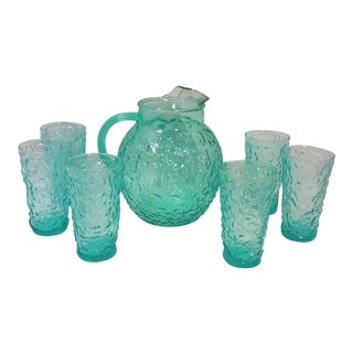 Aqua Ball Pitcher and Tumblers - Set of 7