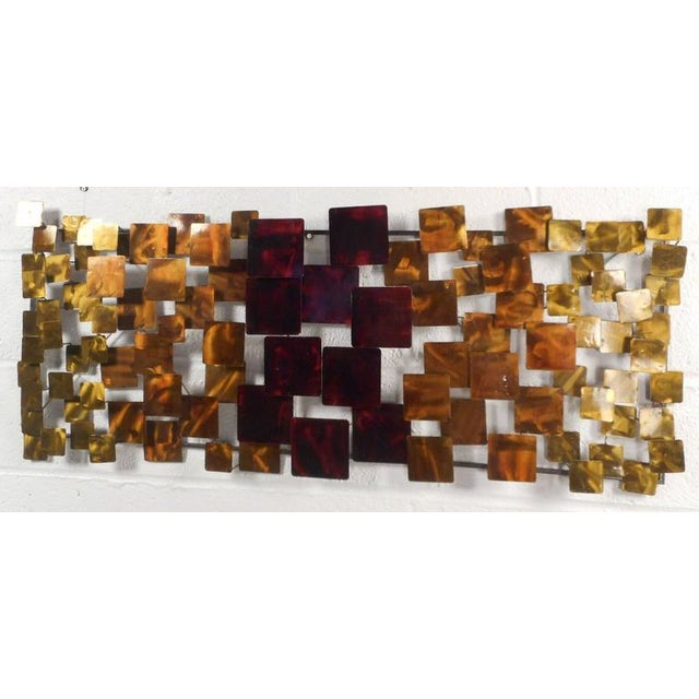 Contemporary Modern Curtis Jere Style Metal Wall Art - A Pair - Image 2 of 6