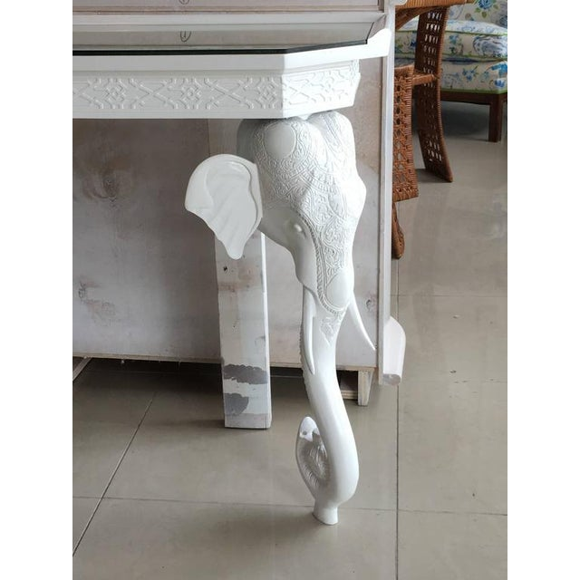 Gampel-Stoll White Elephant Console Table - Image 2 of 11