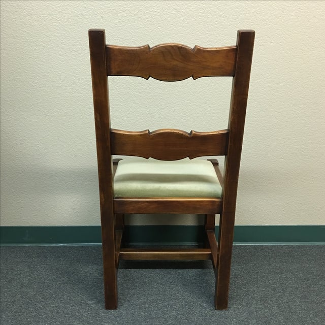 Custom Crafted French Dining Chairs - Set of 8 - Image 5 of 10