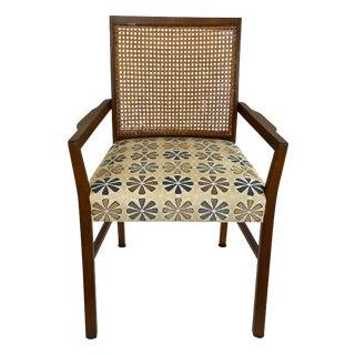 Mid-Century Caned Armchair