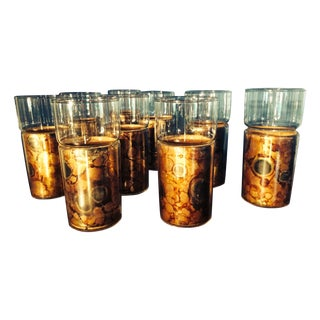 High Ball Glasses With Cork Sleeves - Set of 9