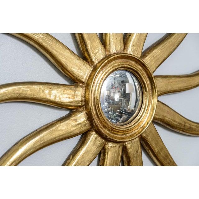 French Giltwood Sunburst Convex Mirror - Image 6 of 10