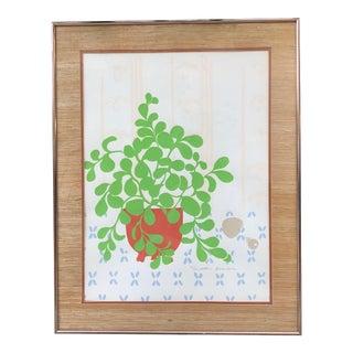 1970s Plant Print