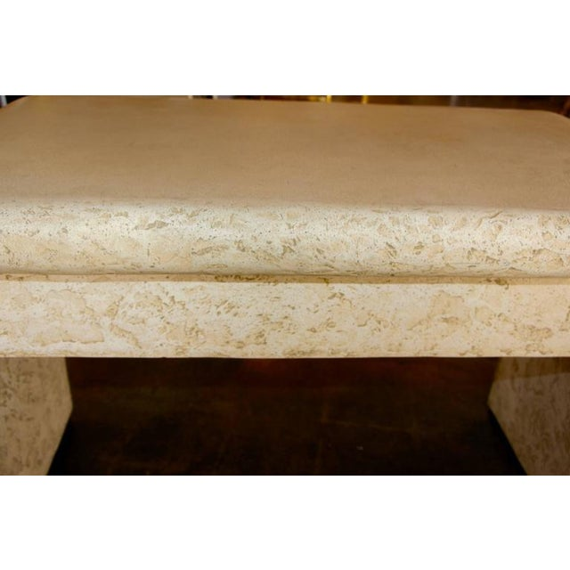 Image of Unusual Faux Stone Plaster over Wood Desk