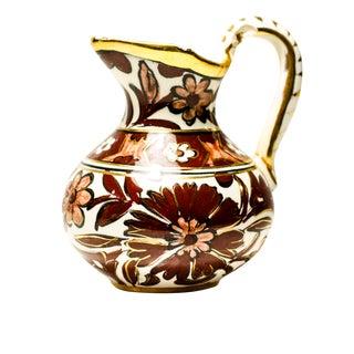 Vintage Floral Ceramic Pitcher Bud Vase
