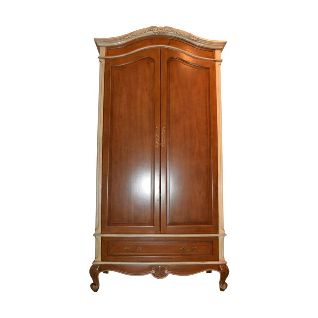 French Heritage Wooden Laon Armoire - Image 1 of 11