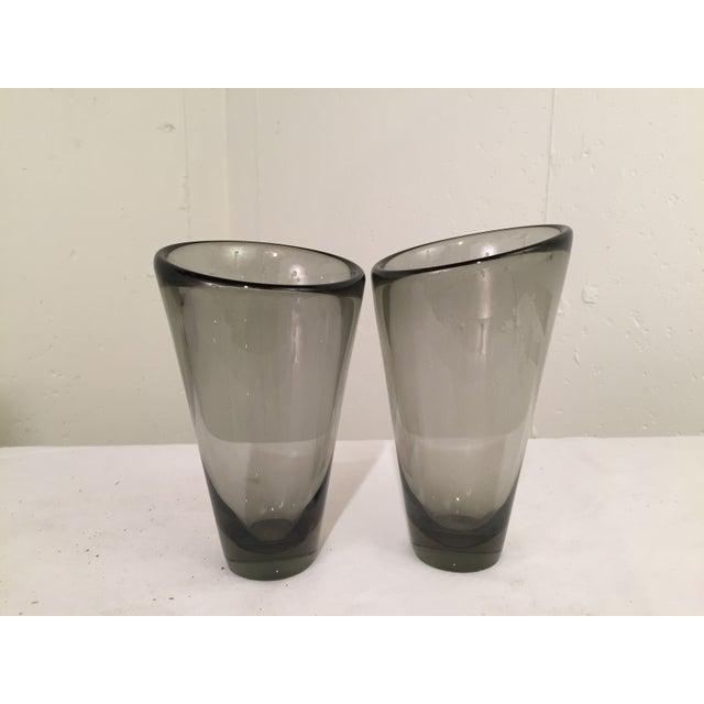 Image of Per Lutken for Holmegaard Smoked Glass Vases