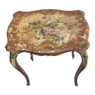 Vintage Florentine Painted Table