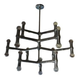 Modern 24-Light Aluminum Chandelier