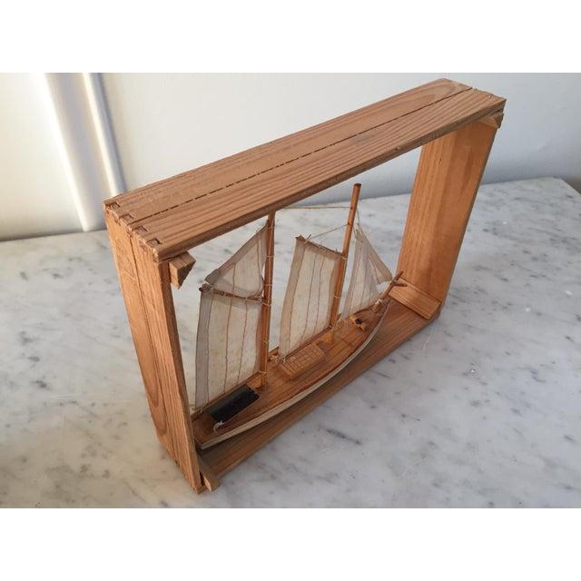 Vintage Sailboat Nautical Decorative Item - Image 4 of 4