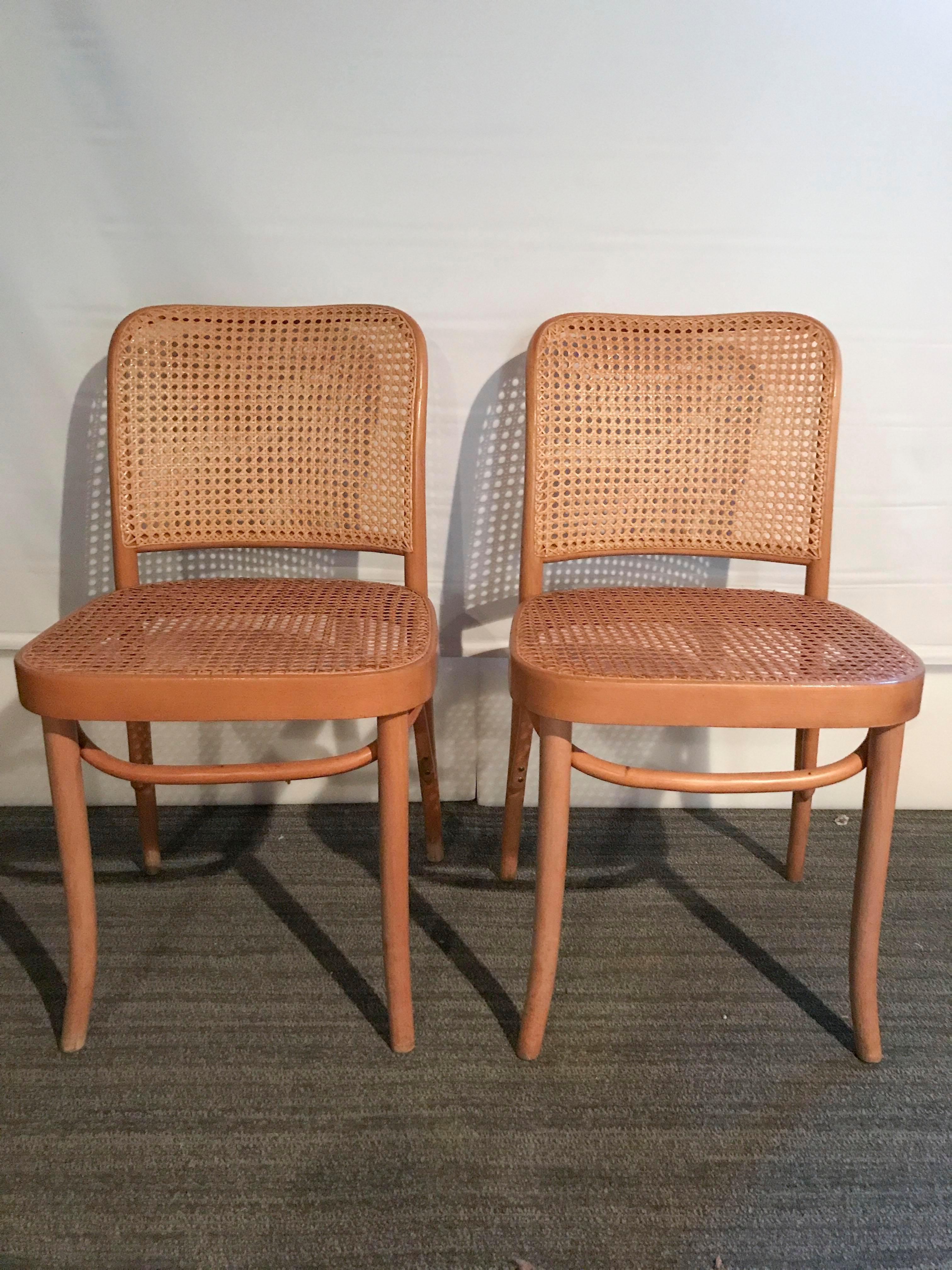 Thonet Josef Hoffman No. 811 Bentwood Prague Chairs   Set Of 6   Image 5
