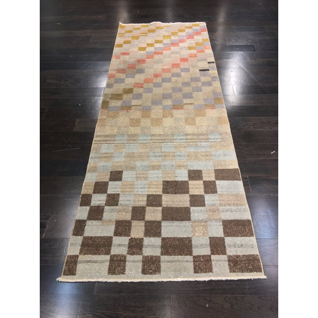 "Bellwether Rugs Vintage Turkish Zeki Muren Runner - 2'11""x8'4"" - Image 2 of 11"