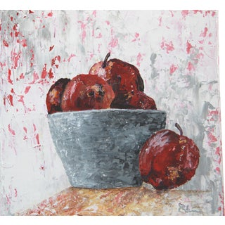 Impressionist Apples Fruit Still Life Painting