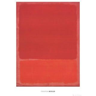 Mark Rothko Red & Orange 2015 Poster