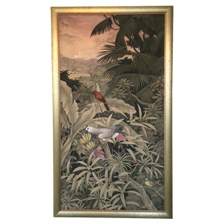 Balinese Tropical Birds & Jungle Painting