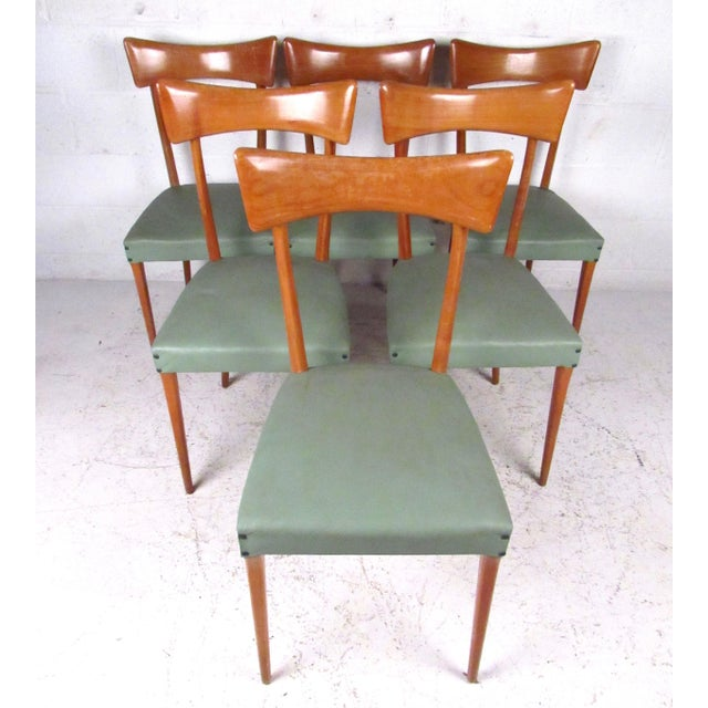 Italian Modern Ico Parisi Style Dining Chairs - Set of 6 - Image 2 of 11