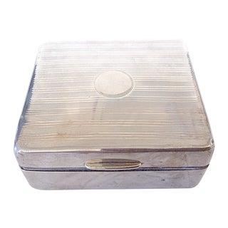 Vintage English Deco Sterling Silver Cigarette Box