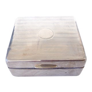 Vintage English Deco Sterling Silver Cigarette Box
