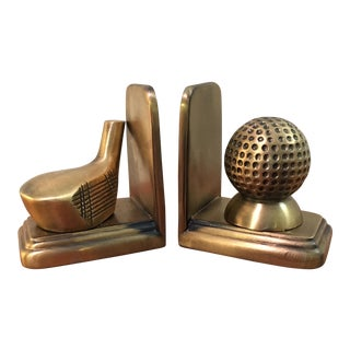 Solid Brass Sarsaparilla Bookends - A Pair