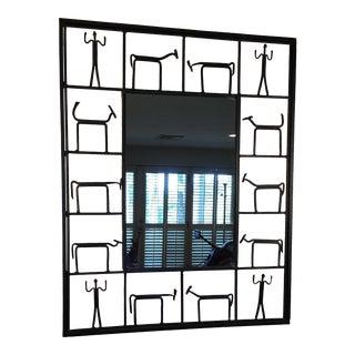 Frederick Weinberg Wrought Iron Mirror