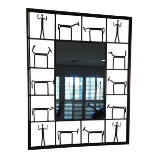 Frederick Weinberg Wrought Iron Mirror