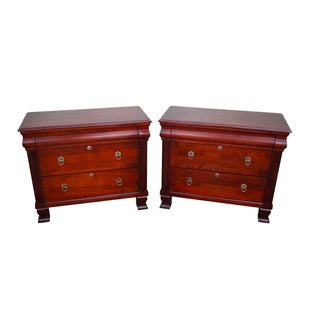 "Ethan Allen British Classics ""Daryn"" Chests Nightstands - A Pair"