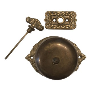 Antique Door Ringer & Key - Set of 3