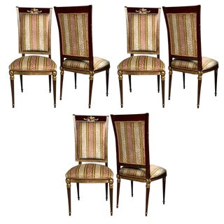 Jansen French Empire Style Dining Chairs- Set of 8