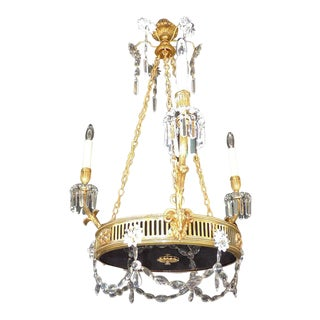 19th C French Régence Bronze Chandelier