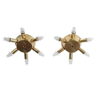 1950s Sputnik Flush Mounts - A Pair